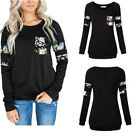 Women Sweatshirt Printing Long Sleeve O Neck Casual Loose Top Pullover Tops Hot