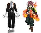 Fairy Tail Brave Guild Card-based Game Natsu Dragneel Cosplay Costume HH.112