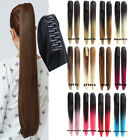 170g Straight Ombre Claw Jaw Pony tail Clip In Synthetic Ponytail Hair Extension