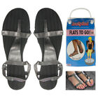 3 Pairs Women's Reusable Kushyfoot Flats To Go Slate Gray Sandals Pedicure Shoes