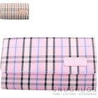 Ladies / Womens / Girls Large Bi-Fold Tartan Check Purse / Money / Coin Holder
