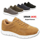 Mens Urban Jack Super Comfort Faux Suede Sports Gym Fashion Trainer All Sizes
