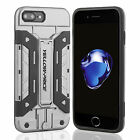 [9H 3D Tempered Glass Protector] Heavy Duty Armor Card Stand Case for iPhone 7