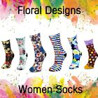 Designer Colourful Floral Women Ladies Girls Socks Soft Skin - COOL AND DRY NEW!