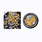 1 Box Moon Star line Rhinestone Metal Alloy 3D Nail Art Decoration DIY New