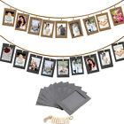 Внешний вид - 10Pcs 6Inch Paper Photo Flim DIY Wall Picture Hanging Frame Album+Rope+Clips Set