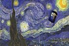 Large Doctor Who Vincent Van Gogh Starry Night Tardis Canvas Picture Wall Art