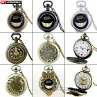 Vintage Necklace Alice In Wonderland Quartz Pocket Watch Hot Gift Pendant Chain image