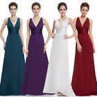 Ever-pretty Long V-neck Wedding Bridesmaid Party Dress Cocktail Prom Gown 09008