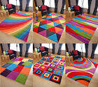 Small XL Large Multi Coloured Bright Modern Thick Rugs Soft Heavy Rug Cheap Mats