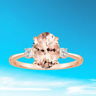 Womens Ladies Girls Faux Morganite Rhinestone Finger Ring We
