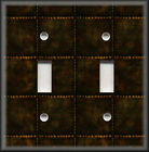 Metal Switch Plate Cover Faux Finish Design Industrial Steampunk Decor Bronze 03