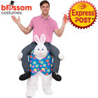 CA180 Ride On Easter Bunny Carry Me Rabbit Piggy Back Mascot Fancy Dress Costume