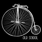 OLD SCHOOL T Shirt funny Penny-Farthing Vintage Retro bicycle nerd tee