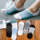 5Pair Men Ankle Sock Cotton Low Cut Non-slip No Show Loafer Invisible Boat Socks
