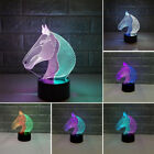 Illusion 3d Led Night Light Horse Bedroom 7 Changing Color Table Lamp Desk Grand
