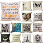 Cotton Linen Pillow Case Car Sofa Bed Waist Throw Cushion Cover Home Decor image