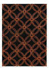 James Bond Alliyah Black/Orange Area Rug $61.99 USD on eBay