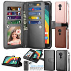 For Motorola Moto G6 Play/Moto G6 Forge Leather Wallet Case Flip Kickstand Cover