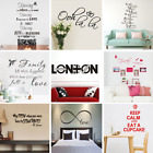 Art Vinyl English Wall Sticker Home Decor Mural Decal For Kids Room Bathroom @uk