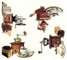 Coffee Kaffe Grinders Beans Select-A-Size Waterslide Ceramic Decals Bx image