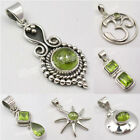 925 SOLID STERLING Silver Green PERIDOT Pendant COLLECTION ! Variation Listing