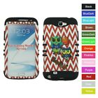 For Samsung Galaxy Note 2 II Basketball Owl Chevron Hybrid Protective Case Cover