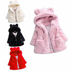 Внешний вид - Toddler Kids Girls Baby Faux Fur Fleece Coat Winter Warm Jacket Parka Outerwear