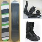 NEW SNOWJAM HERO GREEN SNOWBOARD, BINDINGS, BOOTS PACKAGE - 136cm