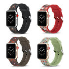 For Apple Watch Series 4/3/2/1 Silicone Sport Floral Watch Band Strap 40mm-44mm