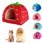Strawberry Pet Dog Cat Bed House Kennel Doggy Warm Cushion Basket Puppy Sleeping