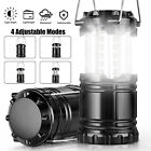 2Pcs Portable Camping Lantern Light LED Collapsible Flashlight Tent Lamp Outdoor