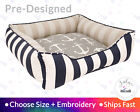 Nantucket Dog Bed Cat Bed Personalization - Beach House, Nautical, Anchors