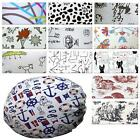 Flat Round Shape Cover*Cotton Canvas Floor Seat Chair Cushion Pillow Case*AL3