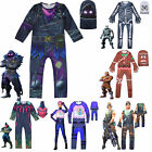 Adults Kids Fortnite Costume Halloween Fancy Dress Up Cosplay Jumpsuit Outfits
