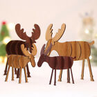 New Home Wood Christmas Elk Deer Ornaments Special Xmas Tree Hanging Decoration