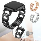 Fashion Bling Rhinestone Stainless Steel Watch Wrist Band Strap for Fitbit Versa