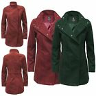 Ladies Ex-Highstore Double Breasted Trench Brushed Fleece Coat Womens Jacket