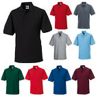 RUSSELL MENS HARDWEARING POLY/COTTON PIQUE POLO SHIRT 3XL 4XL 5XL 6XL 599M