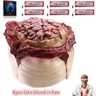 Zombie Halloween Prop Melting Face Latex Costume Dead Scary Head Masks Bloody