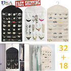 Closet Hanging Jewelry Organizer Necklace Storage Holder Bag Travel Display Case