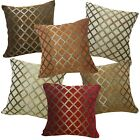 Pillow Cover*Checked Damask Chenille Sofa Seat Pad Cushion Case Custom Size*Wk7