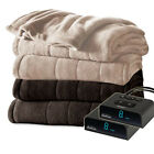 Holmes by Sunbeam Channeled Velvet Plush Electric Heated Blanket - All Sizes