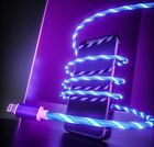 Flowing LED Light USB Lightning Charger Cable for iPhone 5 6 7 8 Plus X XS Max