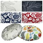 Flat Round Shape Cover*A-Grade Cotton Canvas Floor Seat Chair Cushion Case*Lf1