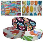 "2""Thick-Round Box Shape Cover*A-Grade Cotton Canvas Chair Seat Cushion Case*Lf3"
