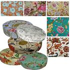 "2""Thick-Round Box Shape Cover*A-Grade Cotton Canvas Chair Seat Cushion Case*Lf4"