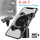 10W Fast Wireless Charger Car Magnetic Air Vent Mount Holder for Samsung iPhone