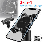 Qi Wireless Car Charger Air Vent Dashboard Mount Holder For Samsung iPhone X