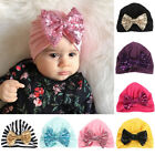 Внешний вид - Baby Toddler Girls Cute Shiny Sequin Bowknot Turban Hat Stretchy Beanie Cap